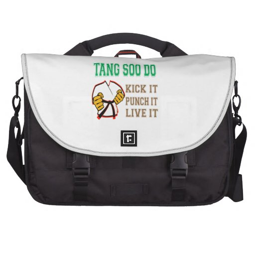 Tang Soo Do Kick it, Punch it, Live it Laptop Commuter Bag