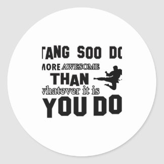 tang soo do MARTIAL arts gifts Classic Round Sticker