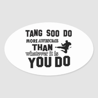 tang soo do MARTIAL arts gifts Oval Sticker