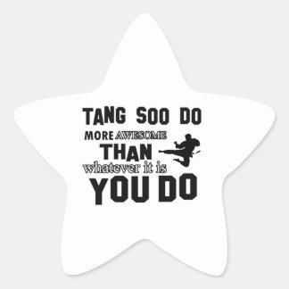 tang soo do MARTIAL arts gifts Star Sticker