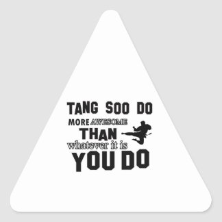 tang soo do MARTIAL arts gifts Triangle Sticker