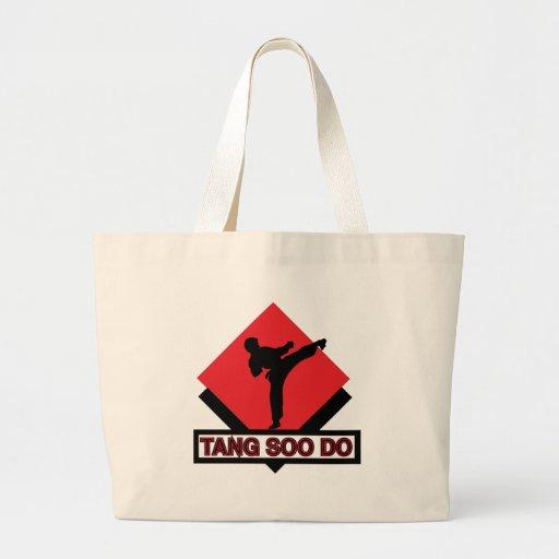 Tang Soo Do red diamond Canvas Bag