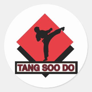 Tang Soo Do red diamond Classic Round Sticker
