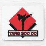 Tang Soo Do red diamond Mouse Pads