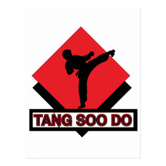 Tang Soo Do red diamond Postcard