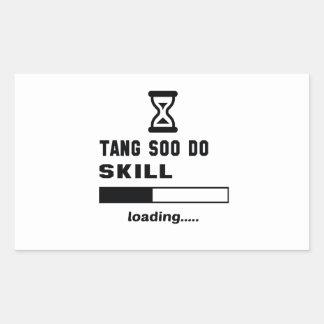 Tang Soo Do skill Loading...... Rectangular Sticker