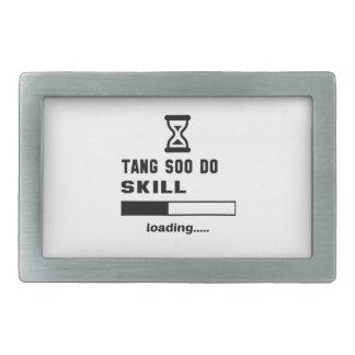 Tang Soo hace el cargamento de la habilidad ...... Hebilla Cinturón Rectangular