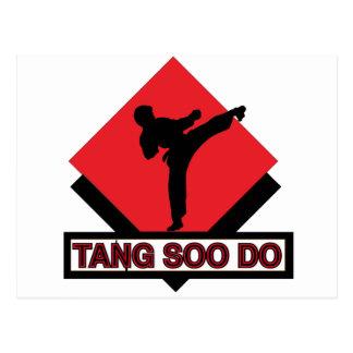 Tang Soo hace el diamante rojo Postal