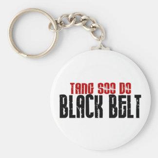 Tang Soo hace karate de la correa negra Llavero