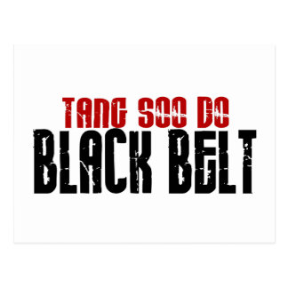 Tang Soo hace karate de la correa negra Postales
