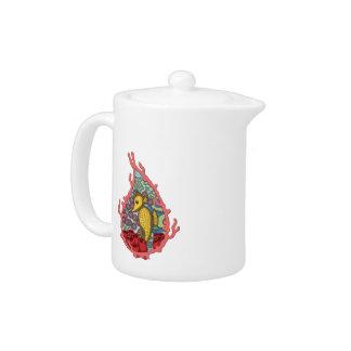 Tanga el pote del té del Seahorse