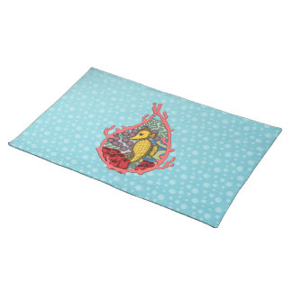 Tanga the Seahorse Placemat Cloth Placemat