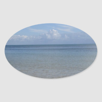 Tangalooma Time Oval Sticker