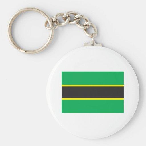 Tanganyika Flag (1962) Basic Round Button Keychain
