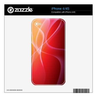 Tangerine Abstract Smoke Zazzle Skin Decals For iPhone 4S