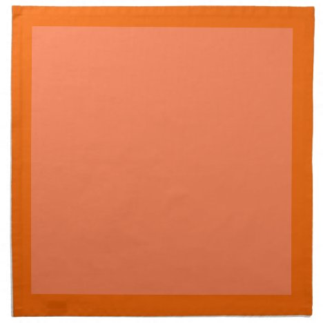 Tangerine and Coral-Colored Napkins