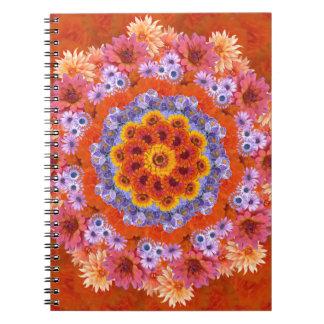 Tangerine and Lavender Kaleidoscope Notebook