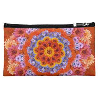 Tangerine and Lavender Kaleidoscopic Cosmetic Bag