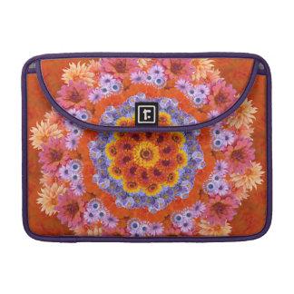 Tangerine and Lavender Kaleidoscopic MacBook Pro Sleeves