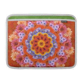 Tangerine and Lavender Kaleidoscopic MacBook Sleeves