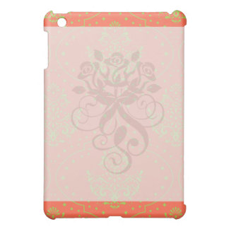 tangerine and lime green henna style damask iPad mini covers