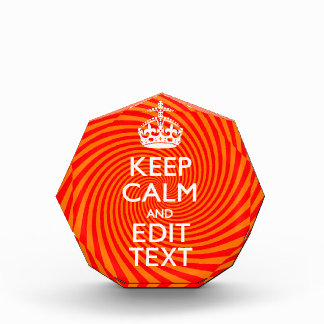 Tangerine and Red Swirl Decor for Your Keep Calm Award