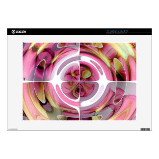 Tangerine and Rose Abstract Collage Skins For Laptops