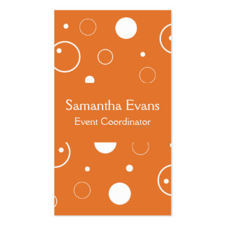 Tangerine and White Bubbles Business Card