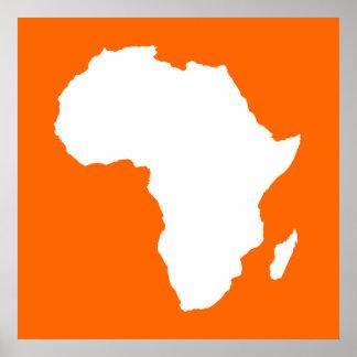 Tangerine Audacious Africa Poster