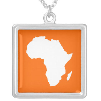 Tangerine Audacious Africa Silver Plated Necklace