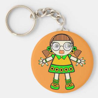 tangerine baby basic round button keychain