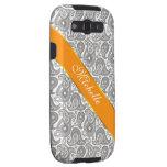 Tangerine Black Paisley Galaxy SIII Case