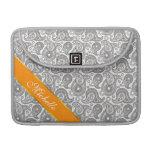 Tangerine Black Paisley Sleeves For MacBooks