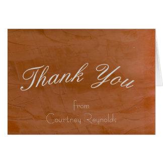 Tangerine Blank Thank You 2.0 Card