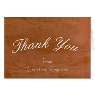 Tangerine Blank Thank You Card