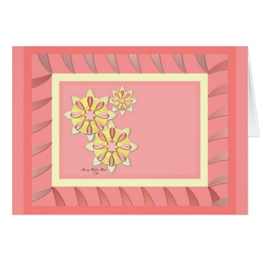 Tangerine Blooms Card - Customized