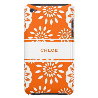 Tangerine Blossom Personalized Floral Splash Case-Mate iPod Touch Case