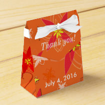 Tangerine Burst Wedding Favor Favor Box