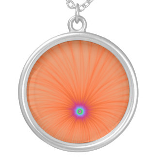 Tangerine Color Explosion Necklace
