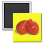 Tangerine Couple (Orange you in love too?) Refrigerator Magnet