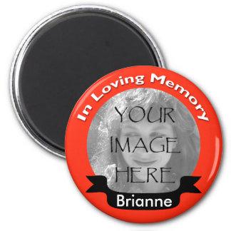 Tangerine Custom Photo In Loving Memory Magnet