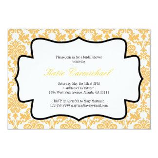 Tangerine Damask Invitation