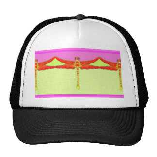 Tangerine Dragonfly Girly Pink Gifts by Sharles Trucker Hat