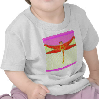 Tangerine Dragonfly Girly Pink Gifts by Sharles T-shirt
