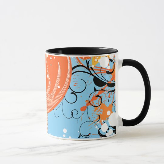 Tangerine Dreams Abstract Artwork Mug