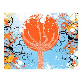 Tangerine Dreams Abstract Artwork Postcard
