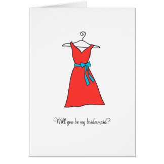 Tangerine Dress, Will you be my bridesmaid? Card
