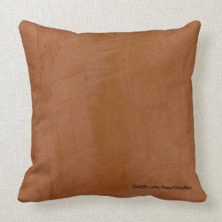 Tangerine Faux Finish Pattern Throw Pillows