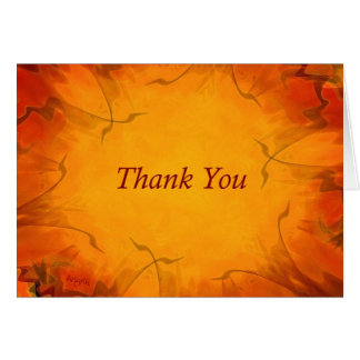 Tangerine Flair Thank You card