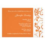 Tangerine Floral Vine Bridal Shower Invitation